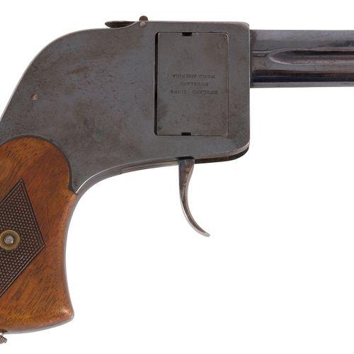 Pistolet revolver, à barillet plat « BAR » modèle 1897, double action, à percuss…