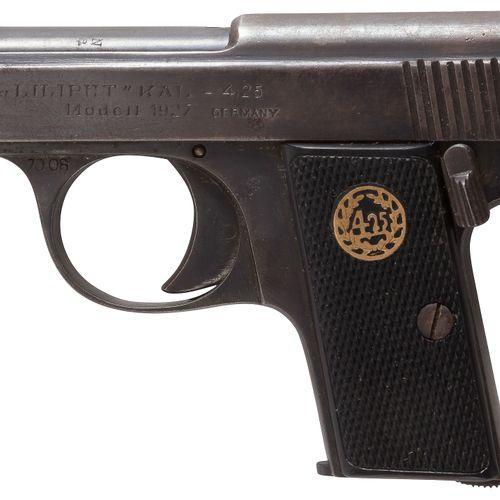 Petit pistolet semi automatique « Liliput » modèle 1927, 8 coups, à percussion c…