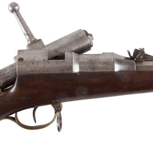 Fusil à système à verrou, un coup, calibre 8 mm Canon rond, rayé, de 66 cm, à pa…