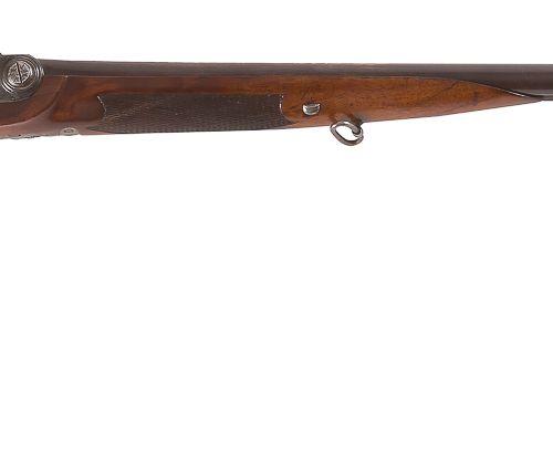 Fusil de chasse double à percussion système Pauly, calibre 14,7 mm env. Canons r…