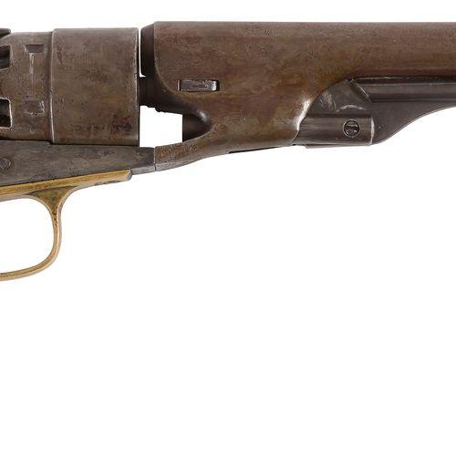 Revolver Colt Army modèle 1860, six coups, calibre 44, simple action. Canon rond…