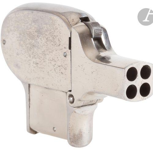 Pistolet de poche Unique, quatre coups, calibre 22 Rimfire. Bloc de 4 canons bas…