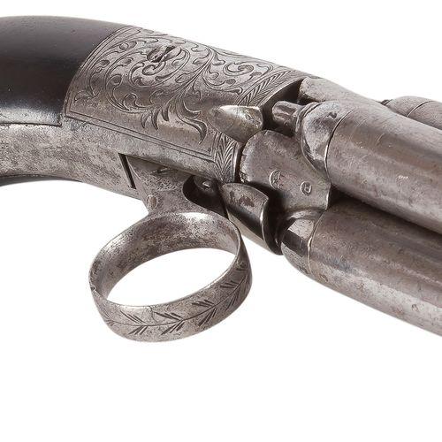 Revolver poivrière Mariette, quatre coups à percussion, calibre 9 mm Faisceau de…