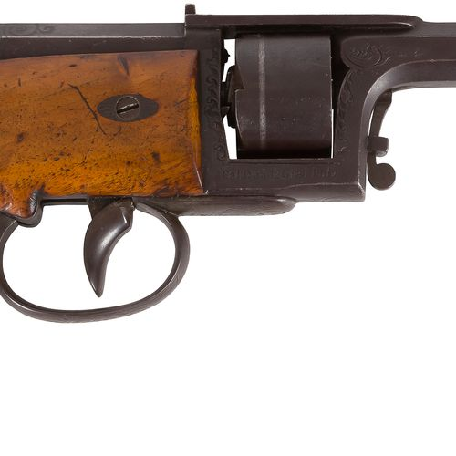 Revolver Dreyse à percussion par aiguille, cinq coups, calibre 0,35 (10 mm env.)…