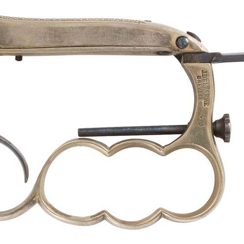 Revolver coup de poing poignard à broche Deleaxhe dit « Apache », six coups, cal…