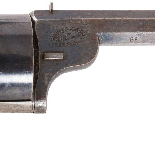 Rare Revolver à système « Malherbe & Rissack », 6 coups, calibre 9 mm court à pe…