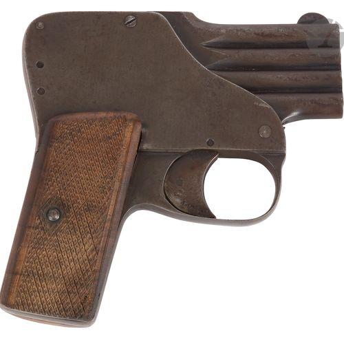 Pistolet de poche, à système type reform, à percussion centrale, 4 coups, calibr…
