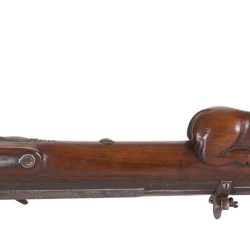 Carabine de tir à silex du type « grenobloise », un coup, calibre 16 mm Canon de…