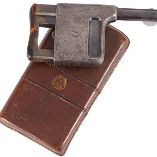 Pistolet de poche à répétition manuelle Le Gaulois, calibre 8 mm court. Canon ro…