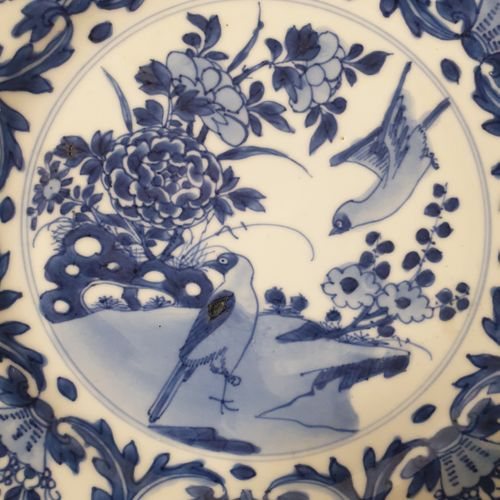 Assiette ronde en porcelaine émaillée en bleu, Chine, époque Kangxi (1662 1722) …