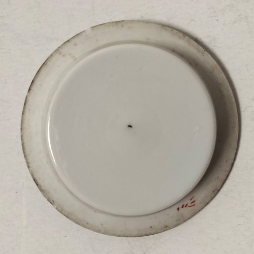 Small covered pot, China, late 19th early 20th centuryPorcelain trivet with poly…