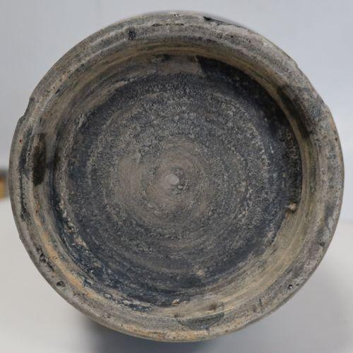 Grand vase en porcelaine, Chine, fin XIXe siècle A panse cylindrique et haut col…