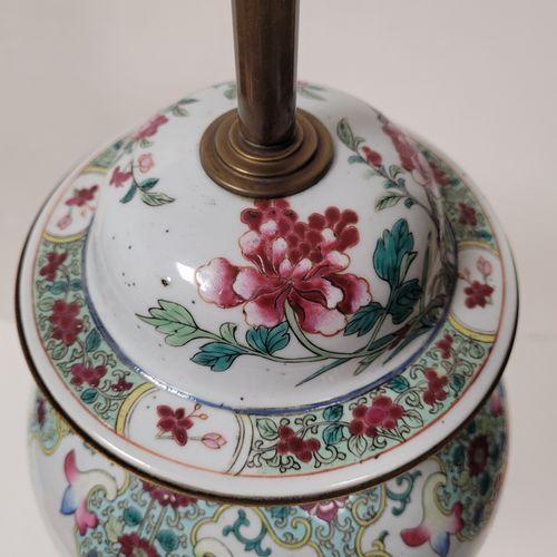 Porcelain covered vase, in the taste of Samson, late 19th centurySinister decor …