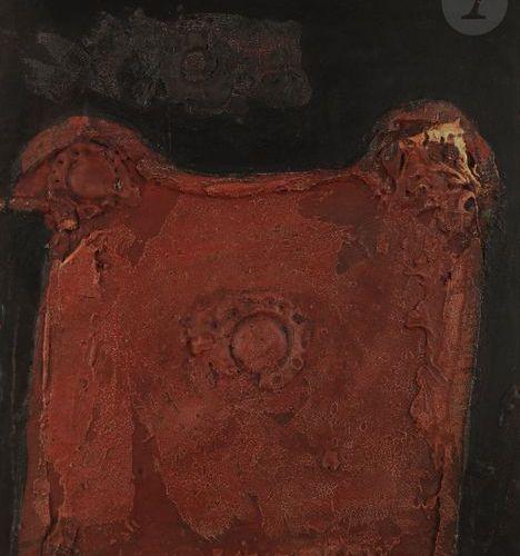 Horia DAMIAN [roumain] (1922 2012) Composition, 1968 Technique mixte sur carton.…