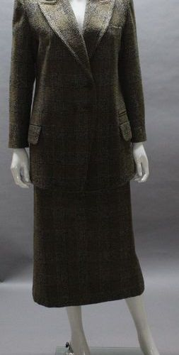 Sonia RYKIEL  Black and brown Prince of Wales patterned woollen ensemble, consis…
