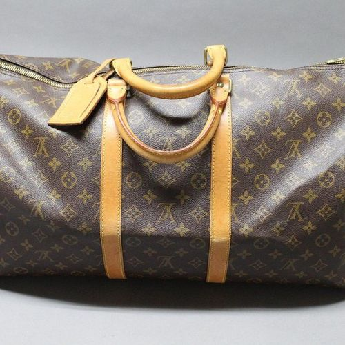 Louis VUITTON  Keepall Shoulder Bag 5(cm) in Monogram canvas and natural leather…
