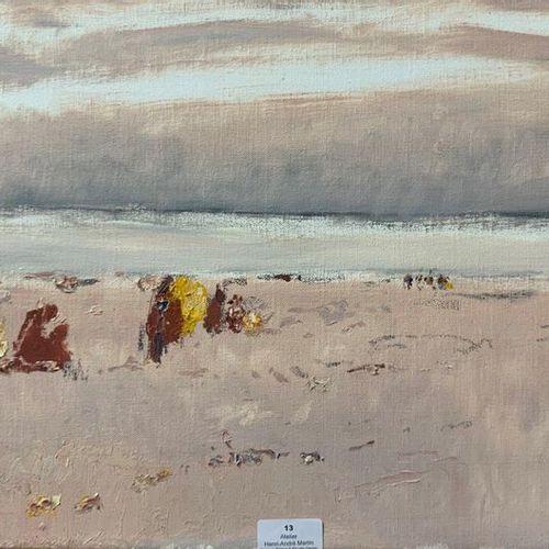 Henri André MARTIN (1918 2004) Scène de plage Toile Signée en bas à gauche 33 x …