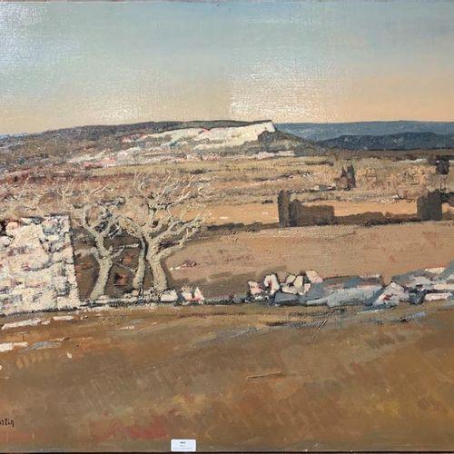 Henri André MARTIN (1918 2004) En Provence Toile Signée en bas à gauche Titrée a…