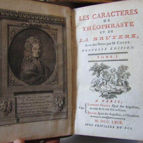 """""""LES CARACTERES DE THEOPHRASTE ET DE LA BRUYERE"""", Paris, chez Laurent Prault, 17…"""