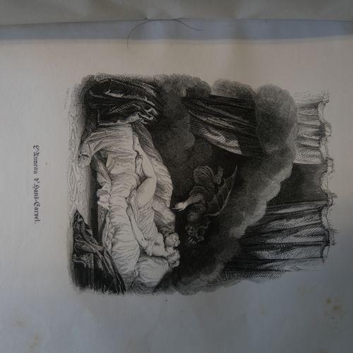 La FONTAINE illustrated by Tony Johannot. Contes et Nouvelles. Paris, Aubry, S.D…