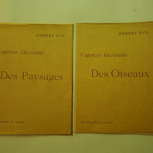 HABERT DYS. Decorative caprices, birds and landscapes. Two sets of eight color p…