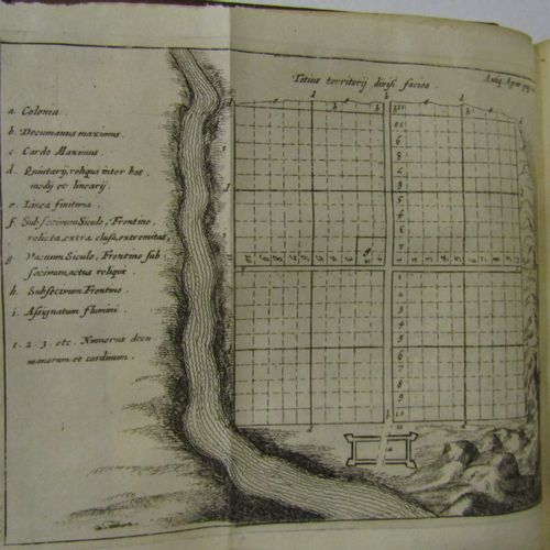 GOES, Rei Agrariae. Amsterdam 1674. Fort in 4° in its original brown spotted cal…