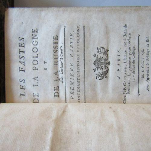 """CONTANT D'ORVILLE: """" FASTES DE LA POLOGNE ET DE LA RUSSIE """", Paris, chez J.P. Co…"""