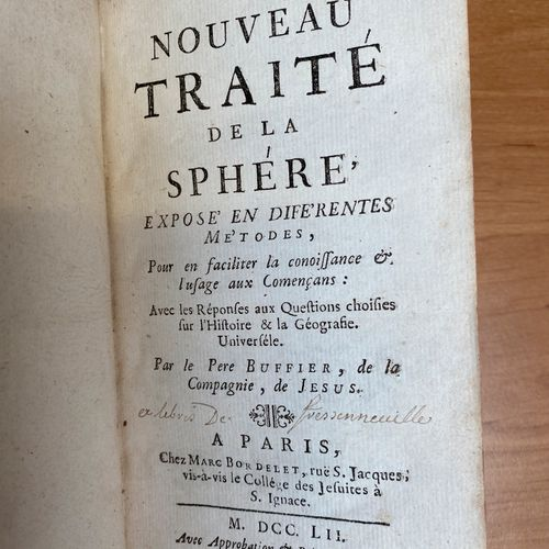 BUFFIER, New treatise of the sphere. Paris 1752, In 12°. Bound in contemporary f…