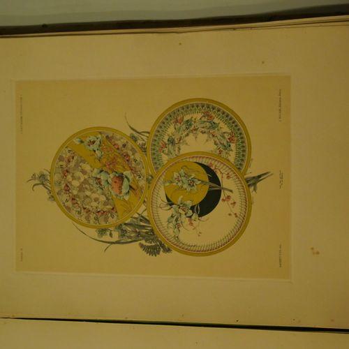 J. HABERT DYS. Decorative fantasies. Paris SD, circa 1900. Portfolio of 48 color…