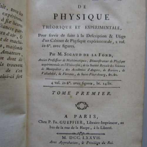 SIGAUD de LA FOND : Eléments de physique théorique et expérimentale pour servir …