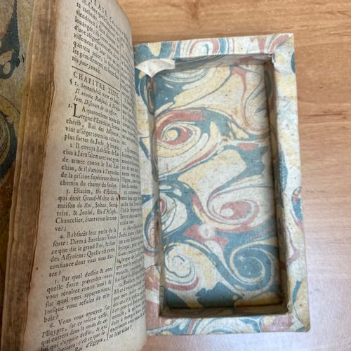 Set of three book boxes in In 12° format in 18th century bindings. One binding w…
