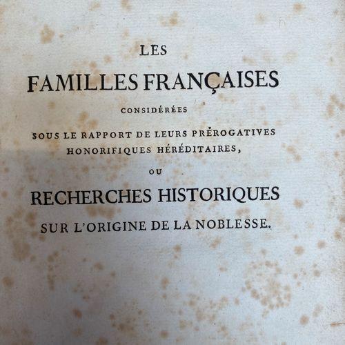 LAIGUE (A. L. De): Les Familles Françaises considérées sous le rapport de leurs …