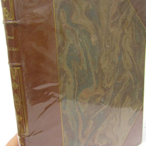 The same, bound in chocolate half chagrin, covers preserved.