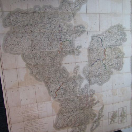 British Isles, 3 maps under cover, the fully expanded map measures over 2m squar…