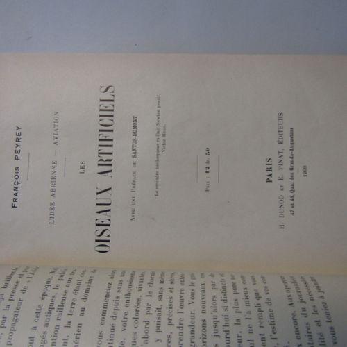 [AVIATION] Peyrey: Les Oiseaux Artificiels. 1909. In 8 modern tan half chagrin. …
