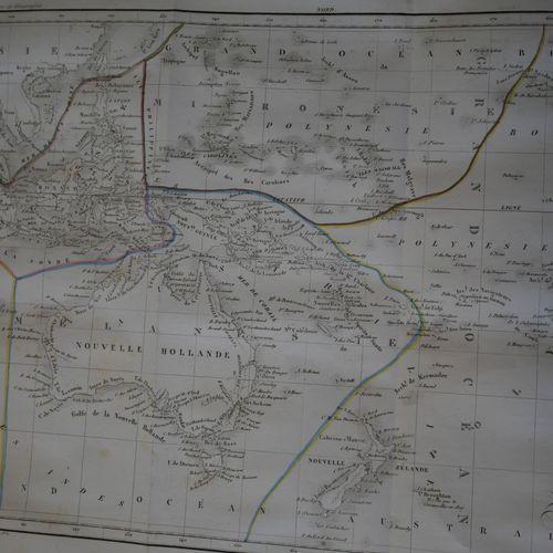 MALTE BRUN. Abrégé de la géographie universelle. Paris, Furne, 1840. A large vol…