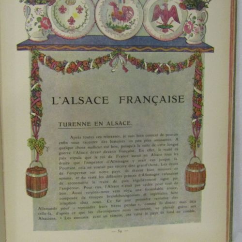 HANSI, History of Alsace told to small children by uncle Hansi. Floury, 1912. Ve…