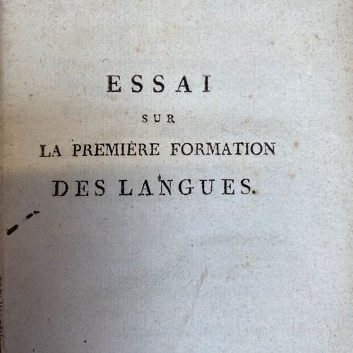 MANGET (J.): Essay on the first formation of languages and on the difference in …
