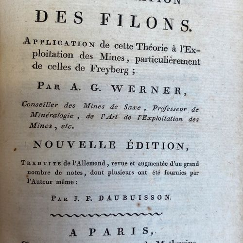 CORSICA / WERNER + DEUTHIER + BARAL. Set of four geological memoirs including on…