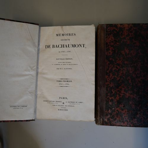 RAVENEL. Secret memoirs of Bachaumont. Paris, 1830. Two strong volumes in 8° and…
