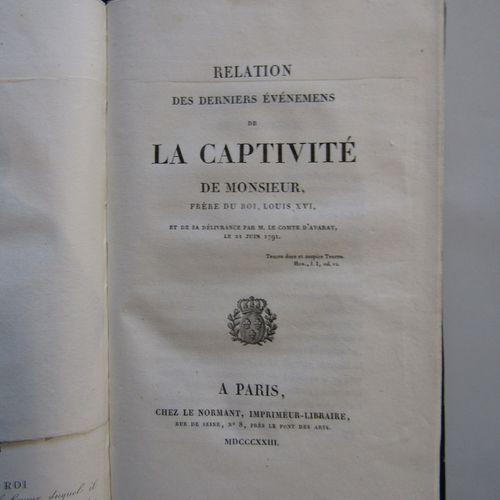 [LOUIS XVIII] Relation d'un voyage à Bruxelles et à Coblenz (1791). Baudouin Frè…
