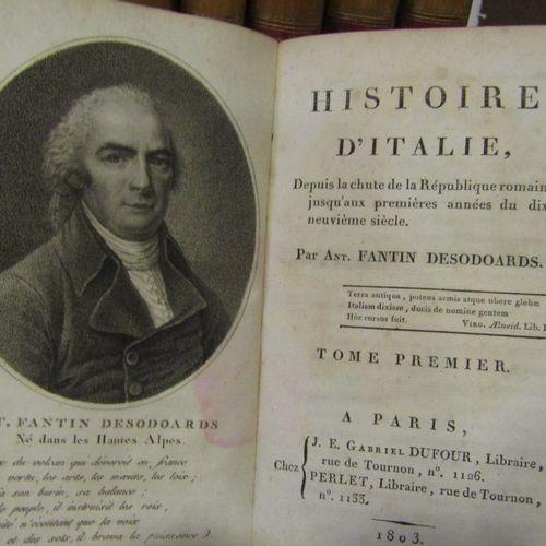 FANTIN DESODOARDS, History of Italy. Paris 1803, 9 volumes in 8°, bound in half …