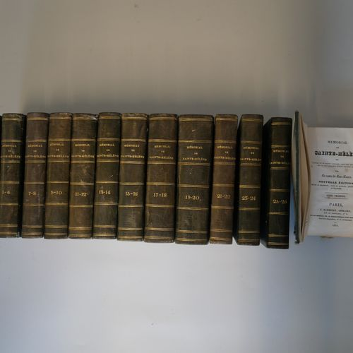 LAS CASES. Memorial of Saint Helena. Paris Barbezat, 1830. 26 volumes in 13 volu…