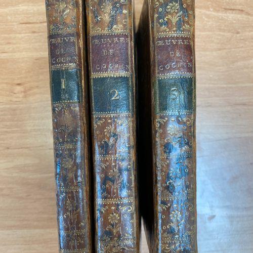 """OEUVRES DIVERSES DE M. COCHIN"", Paris, by Charles Antoine Jombert, 1771. 3 volu…"