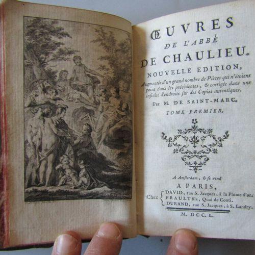 """M. DE SAINT MARC : """" OEUVRES DE L'ABBE DE CHAULIEU """", Paris, chez David et autre…"""