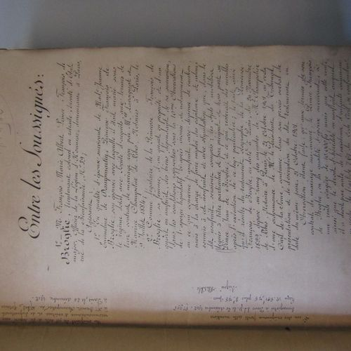 NOTARY ACT. Broglie family. A large volume in 4° mimeographed concerning notaria…