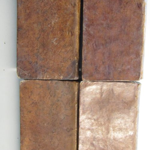 """OEUVRES DE MONSIEUR DE MONTESQUIOU"", Amsterdam 1773. 4 volumes in 12 contempora…"