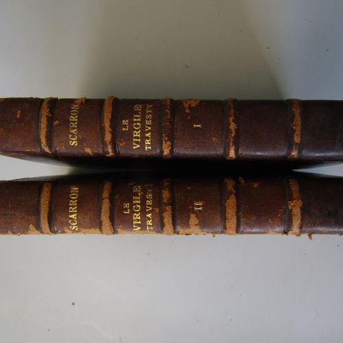 SCARRON: The Virgil Travesty in burlesque verse. David, 1695. 2 vols. In 12 earl…