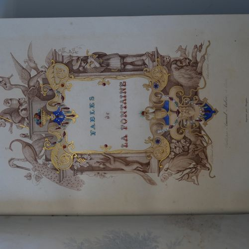 LA FONTAINE. Fable illustrated by Davy. 2 volumes in 4°, Paris, SD (around 1840)…