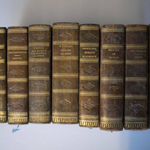 Theatre of BOISSY, BOUFFLERS, PANARD, MICHAUD ... Set of 8 volumes, in homogeneo…